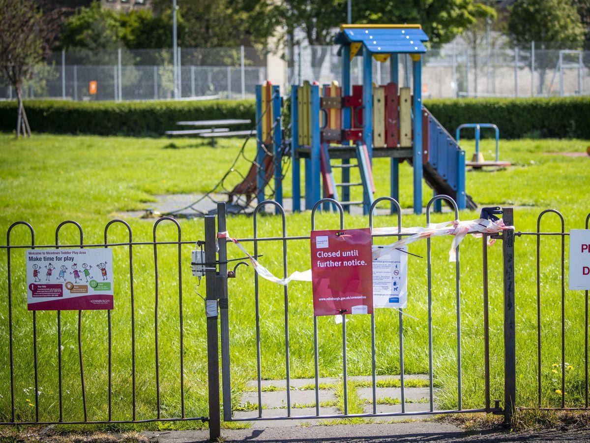 A play park in Edinburgh closed during lockdown