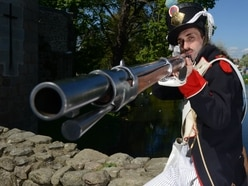 History war buffs on target at Whittington Castle - in pictures