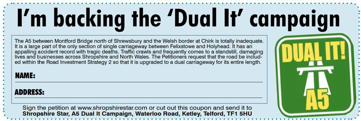 You can find a form in the paper or you can sign the petition online