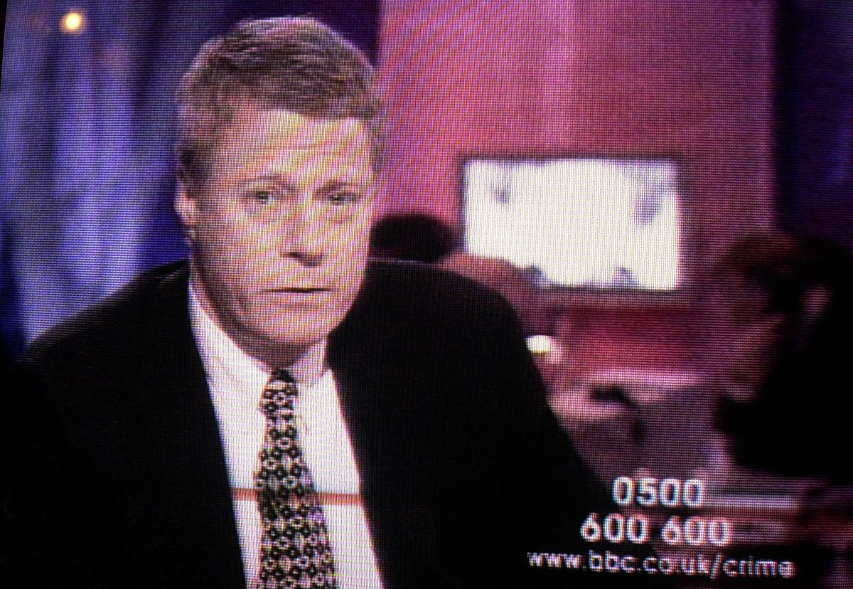 Early days – Nick Ross presented the show for 23 years