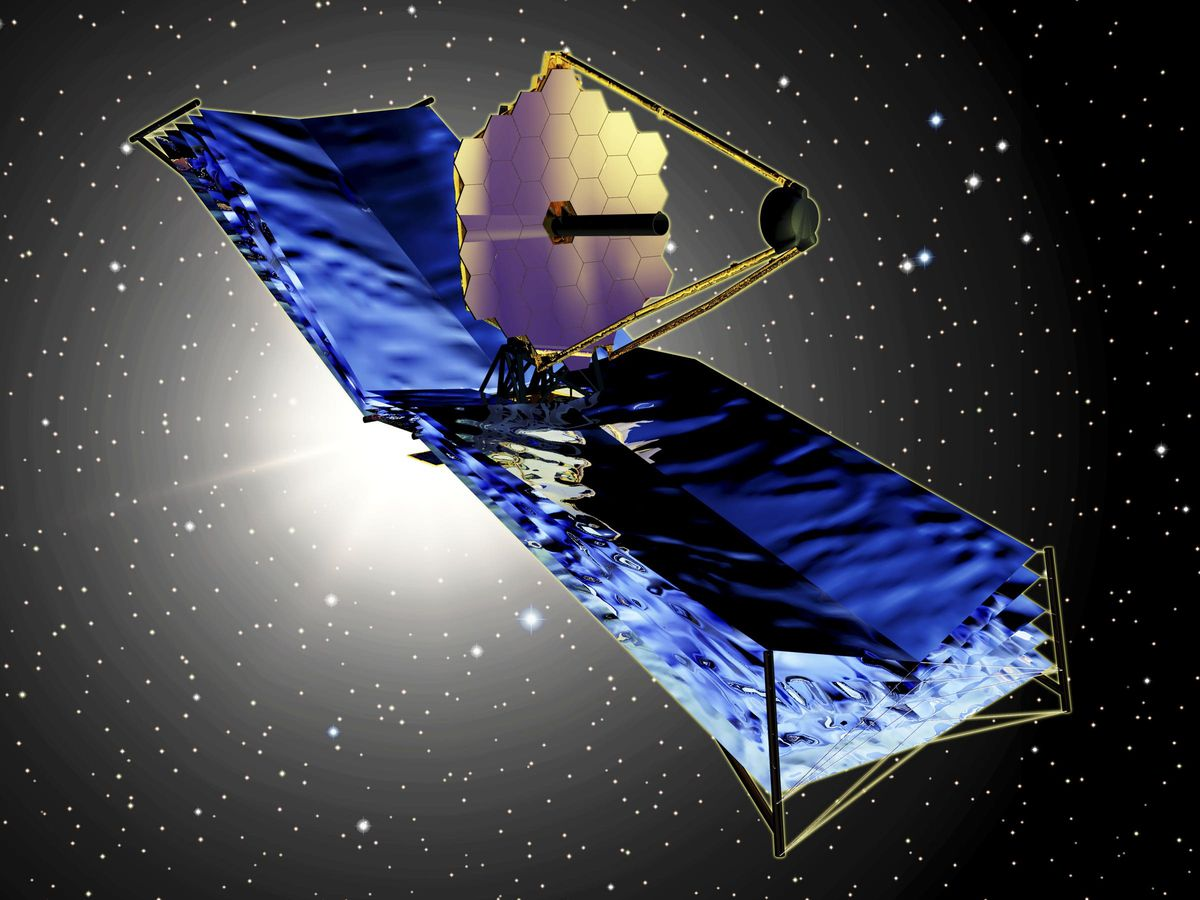 An artist's impression of the James Webb Space Telescope