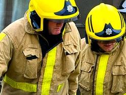Digger destroyed in Broseley blaze