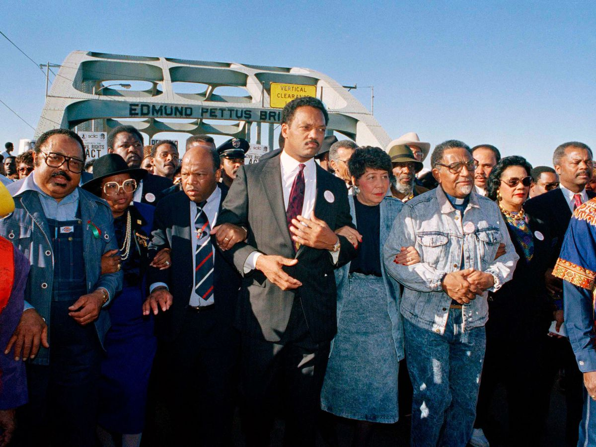 The recreation of the 1965 Selma to Montgomery march in 1990