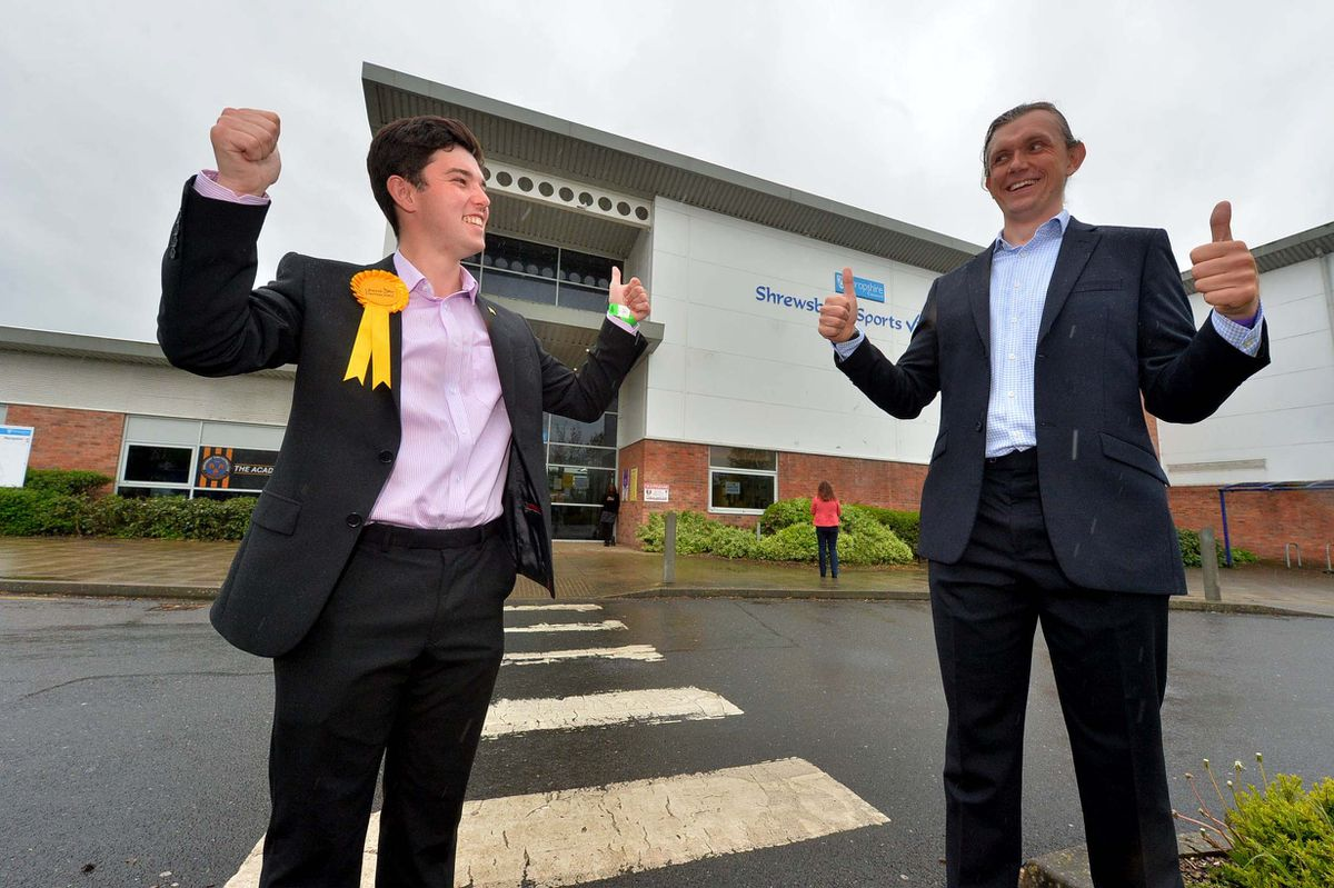 New Lib Dem councillors Alex Wagner, left, and Rob Wilson