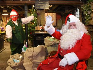 Father Christmas and the elves at Blists Hill have had new costumes.