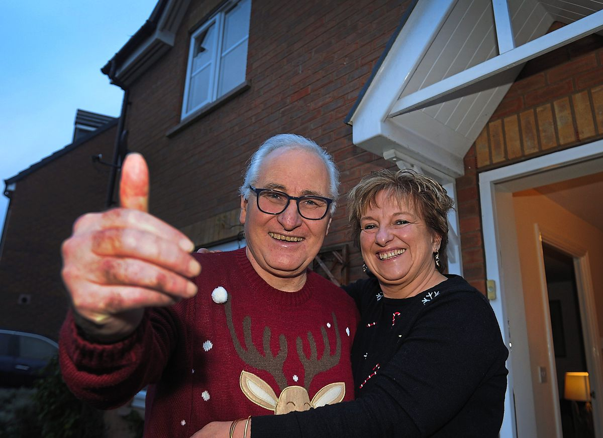 Glad to have survived – Paul Hodgskin is enjoying a special Christmas with his partner Sue Dhingra, with a wedding planned