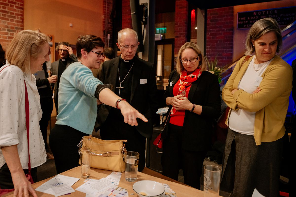 The Archbishop of Canterbury visits Ludlow Brewery