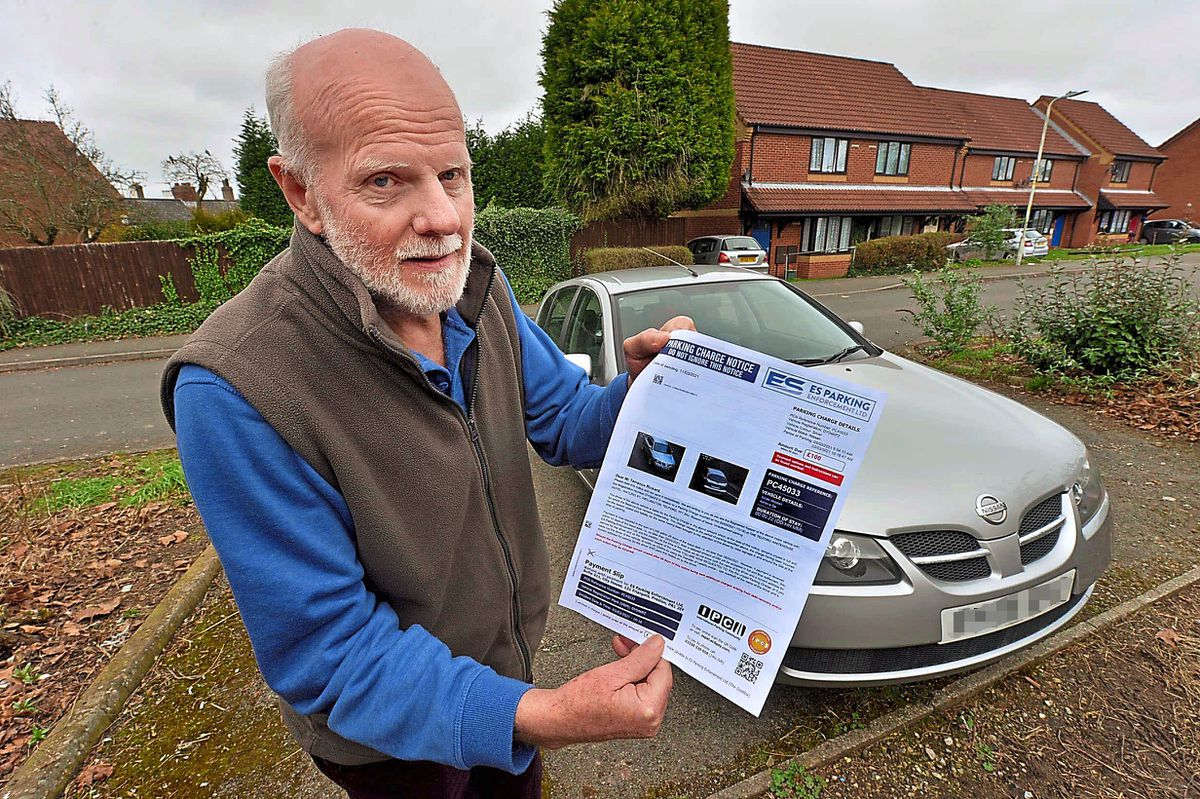 Terry Rickard, 62, was stunned to get a £100 parking ticket after visiting the coronavirus vaccination centre at AFC Telford