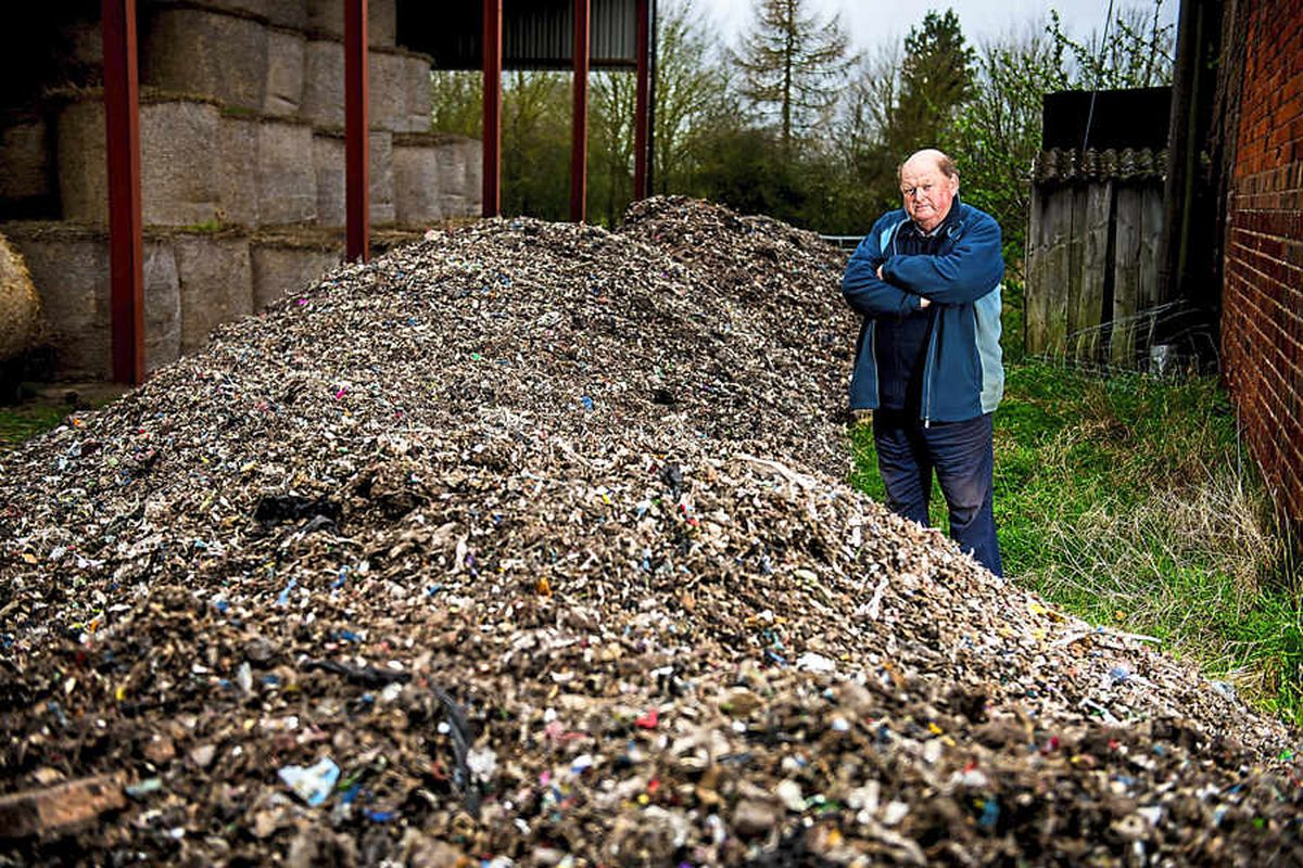100 TONNES of commercial waste dumped on Shropshire farm