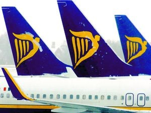 File photo dated 8/1/2007 of Ryanair aircraft at Stansted Airport. PRESS ASSOCIATION Photo. Issue date: Friday December 18, 2009. Low-cost airline Ryanair said today it had pulled out of talks with Boeing over a potential multibillion-dollar order for up to 200 new aircraft. The decision will result in a major change in strategy for the airline, which has no plans to reopen discussions with other aircraft manufacturers. See PA story CITY Ryanair. Photo credit should read: Chris Radburn/PA Wire
