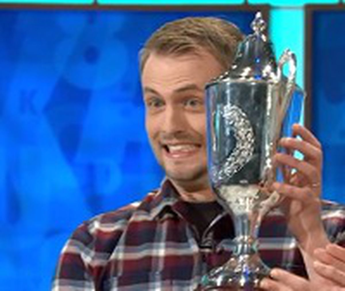 Tom Chafer-Cook with the Richard Whitfield Memorial Trophy after being named Countdown champion