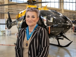 High Sheriff reaches for the skies in visit to RAF Shawbury
