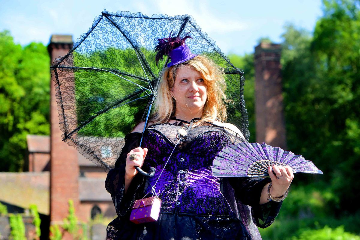 Jacky Brunt from Manchester at Blists Hill Victorian Town's first ever Steampunk Festival