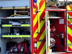 Fire crews tackle farm building blaze near Whitchurch