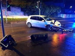 Drink-driver caught in act by own dash cam footage after traffic lights crash