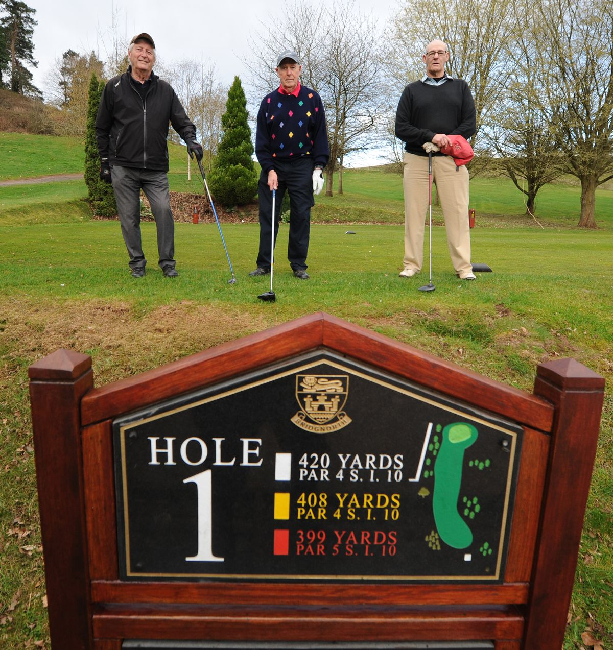 Back playing golf as Bridgnorth Golf Club reopens were from left, Mike Clarke, Arnold Rhoden and Bob Bosson.