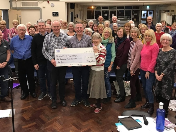 Choir raises £1,200 for Newport X-ray appeal