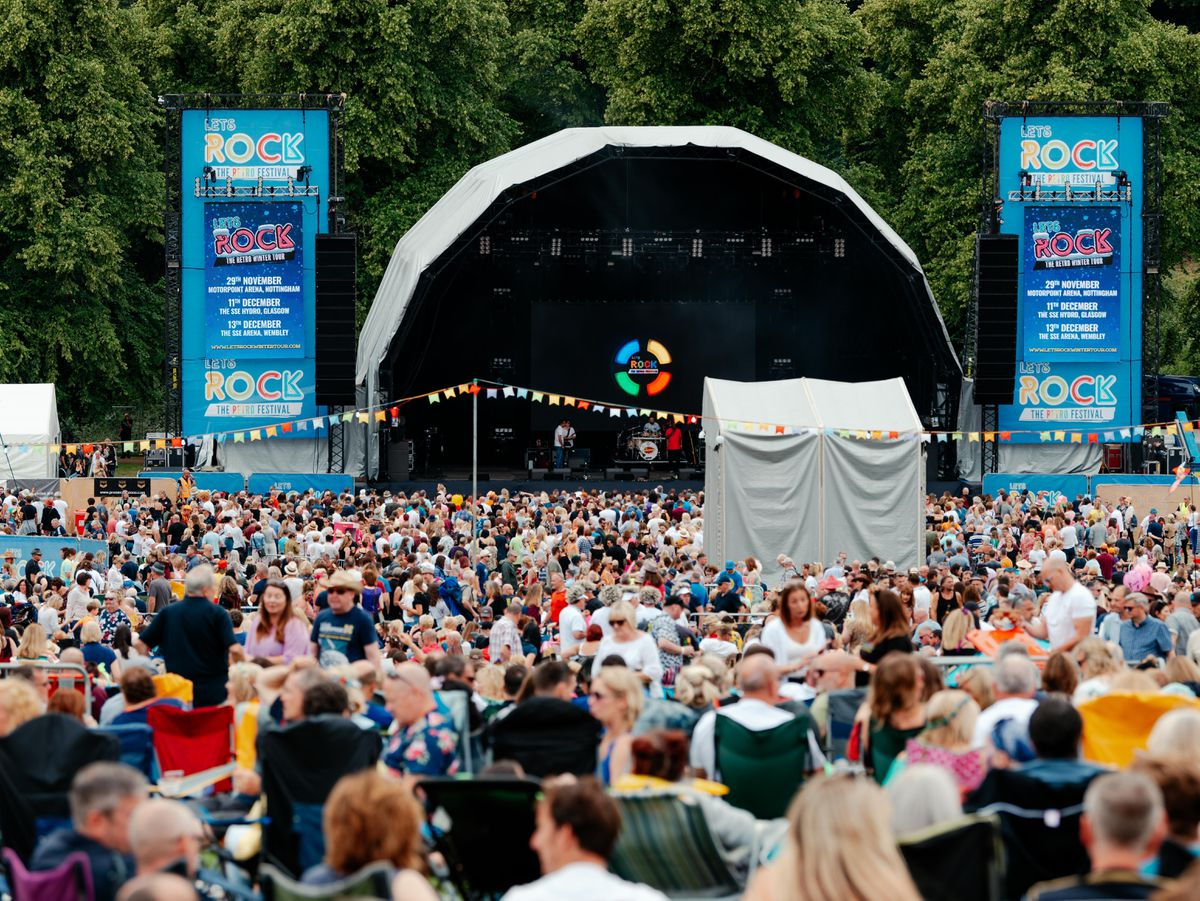 Crowds at Let's Rock Shrewsbury 2019