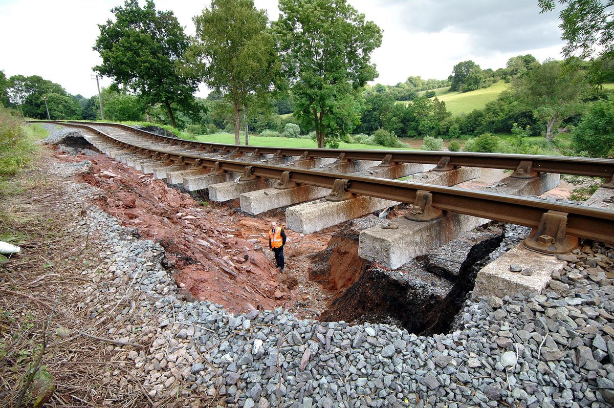 The landslide at the Severn Valley Railway near Highley