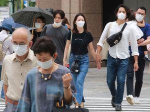 People wearing face masks in Tokyo