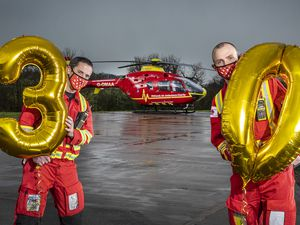 Midlands Air Ambulance Charity is holding an Air30 rapid response raffle