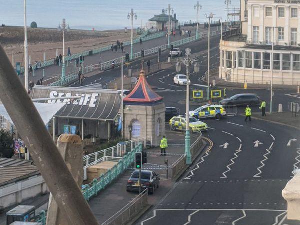 Police at Brighton Pier