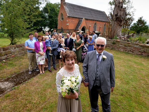 Paul Hodgskin and Sue Dhingra tie the knot