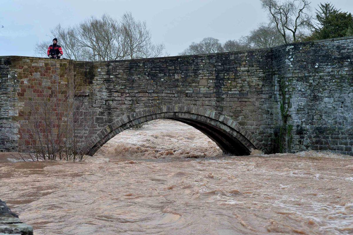 Ludford Bridge over the River Teme in Ludlow