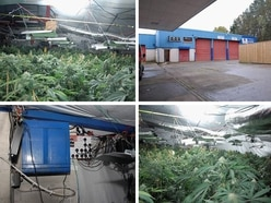 Huge cannabis factory worth £2.5 MILLION found at old Telford MOT station