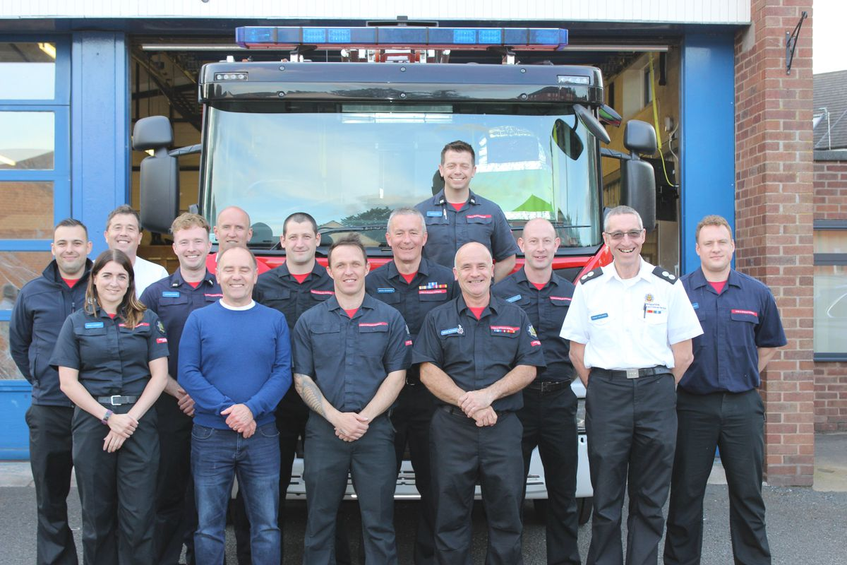 The crew from Newport Fire Station