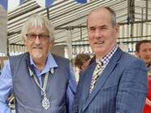 Councillor Martin Pope, left and Councillor Mark Jones