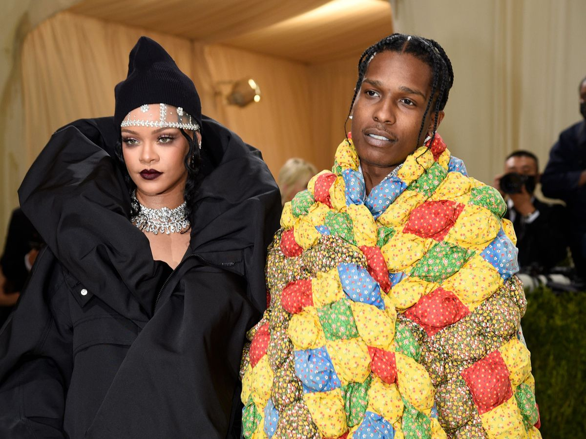 Rihanna and Asap Rocky attend the Met Gala