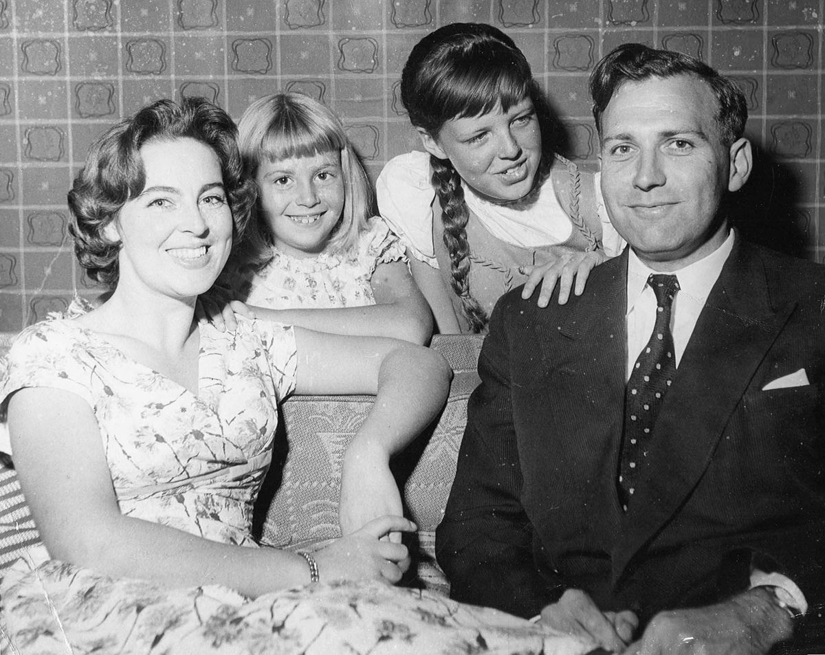 John Stonehouse with his first wife Barbara and their children, taken in the early 1960s when he was MP for Wednesbury