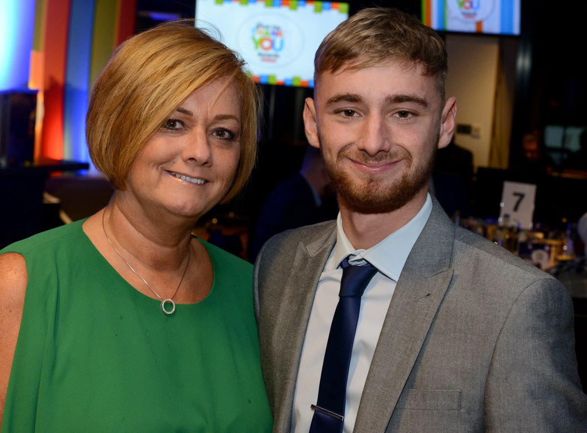 Suzy Evans and Owen Richards at the Express & Star's Great Big Thank You Awards in 2019