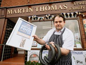 Butcher Craig Thomas has won an award for his black pudding