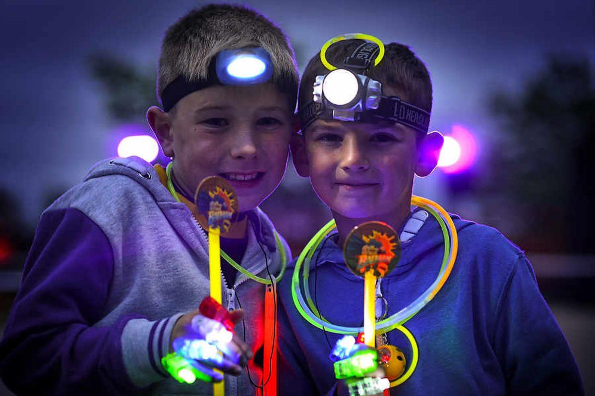 Fundraisers light up Telford Town Park Dark Run