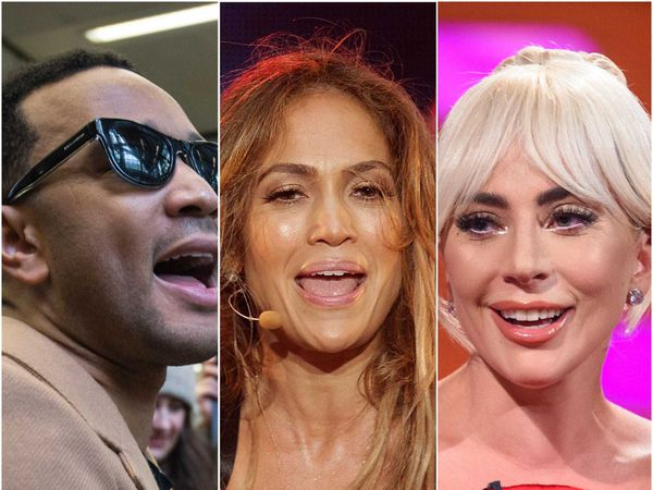John Legend, Jennifer Lopez and Lady Gaga (Lauren Hurley/Yiu Nok/Matt Crossick/AP)