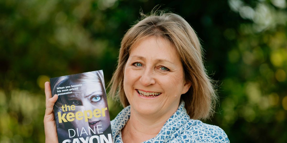 Diane Saxon, of Waters Upton, near Telford, with her new novel The Keeper