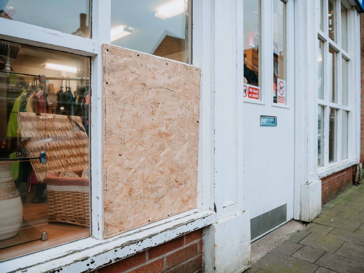 Sue Ryder in Market Drayton was one of the shops targeted