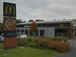 Man charged after pedestrian run over at Shrewsbury McDonald's