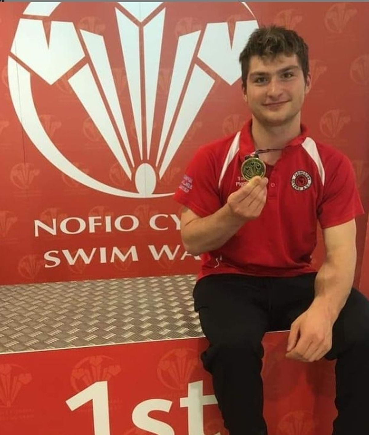 Piggott after winning gold at the Welsh National Championships in 2019. Photo: Instagram