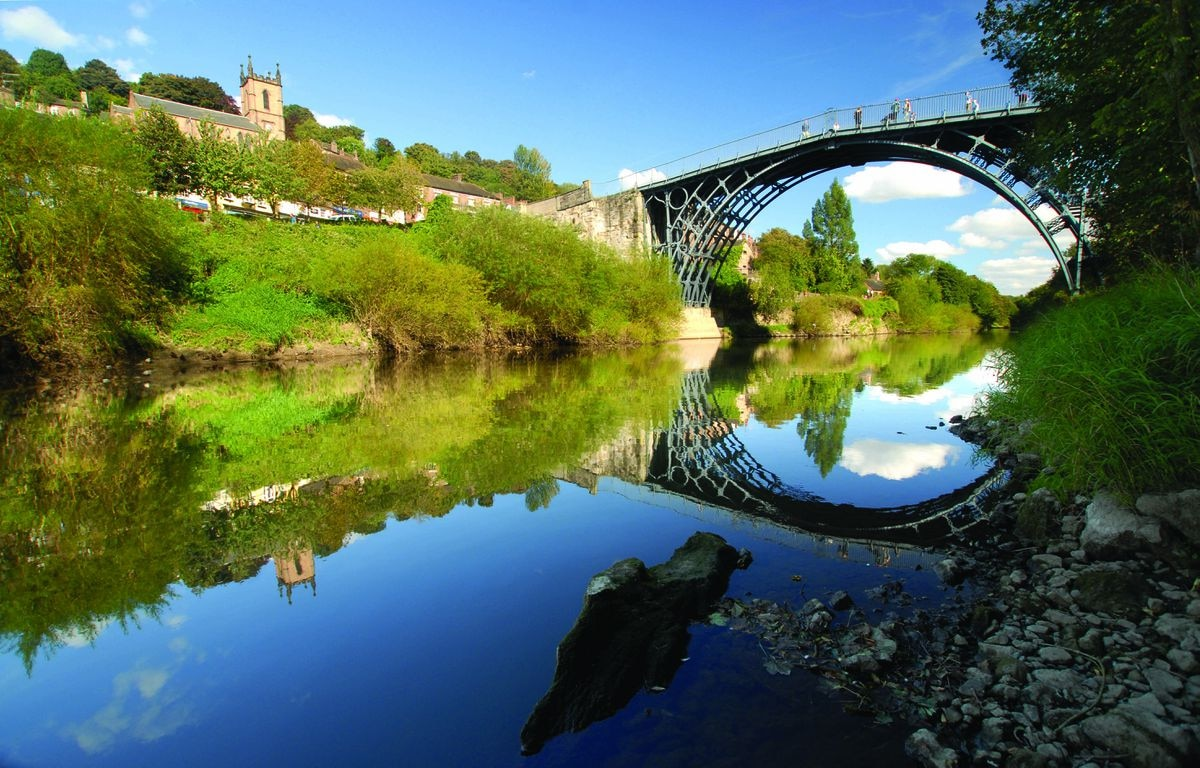 People have been used to seeing a grey Iron Bridge