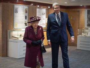 The Queen with Director General Andrew Parker during a visit to the headquarters of MI5 at Thames House in London (Victoria Jones/PA)
