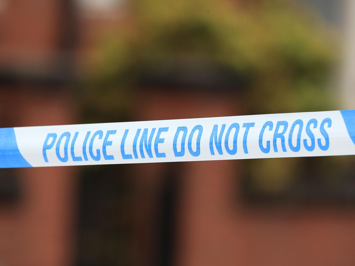A stock image of police tape