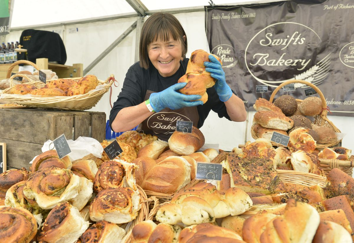 Louisa Turner from Swifts Bakery at the Telfood Festival