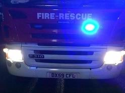 Three injured after car crashes into tree on Shropshire border