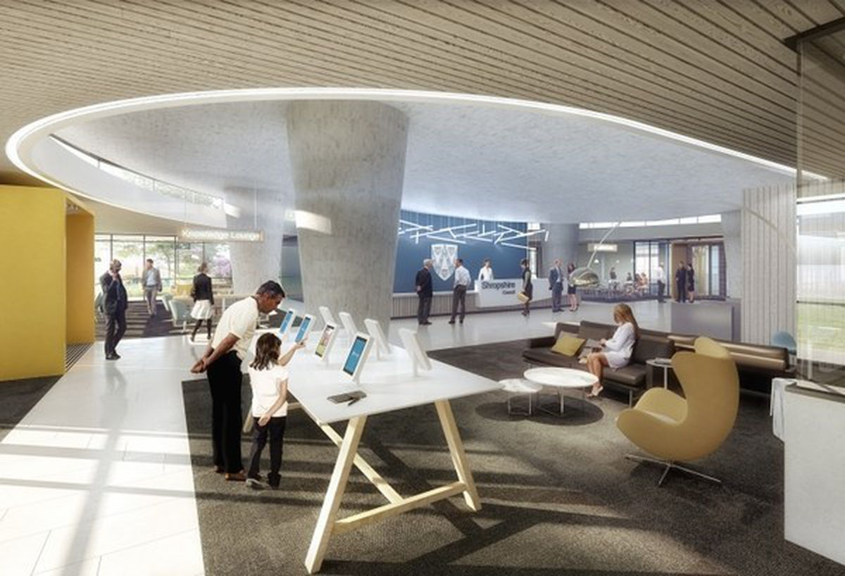How the refurbished foyer could look