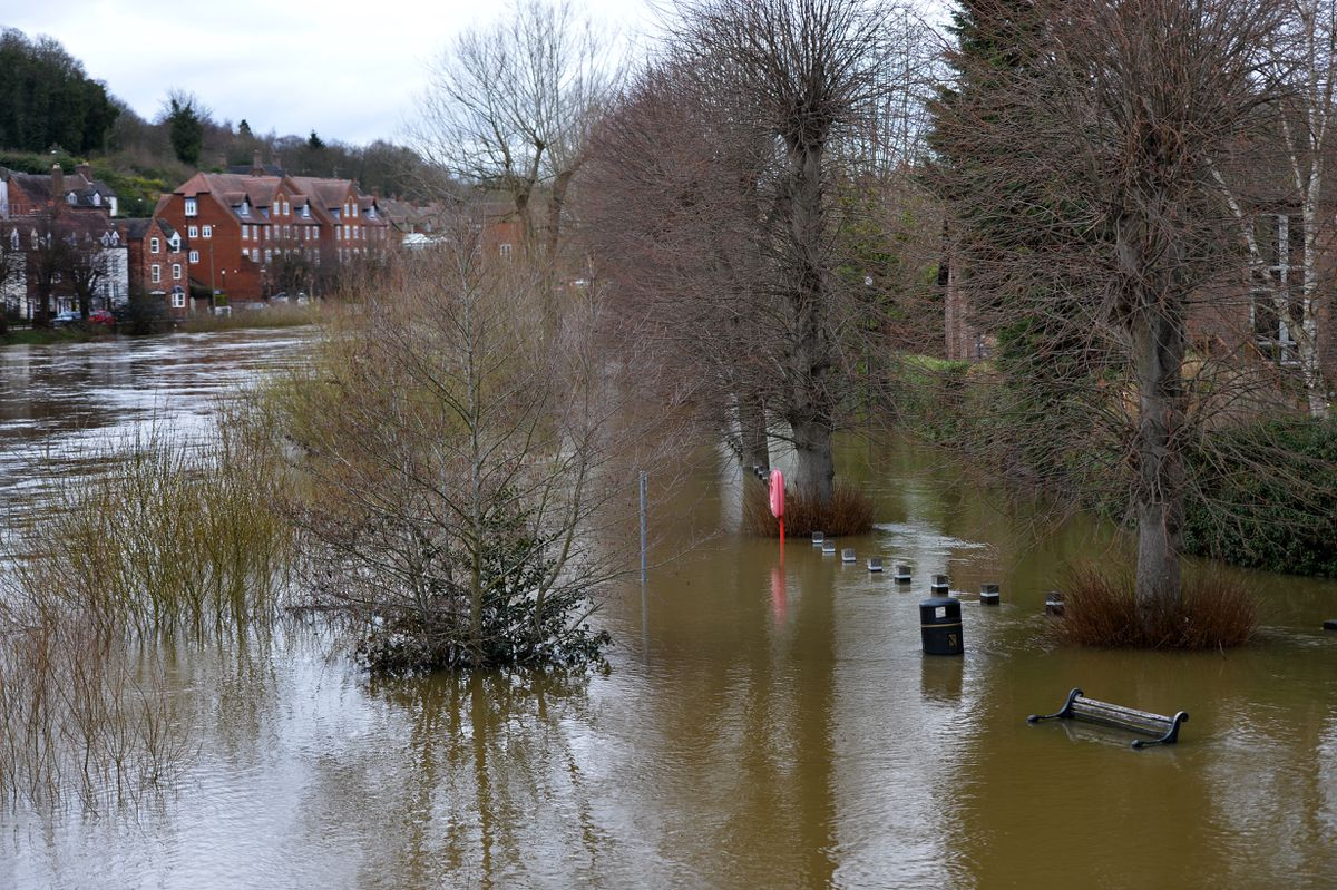 The view from Bridge Street in Bridgnorth on Tuesday