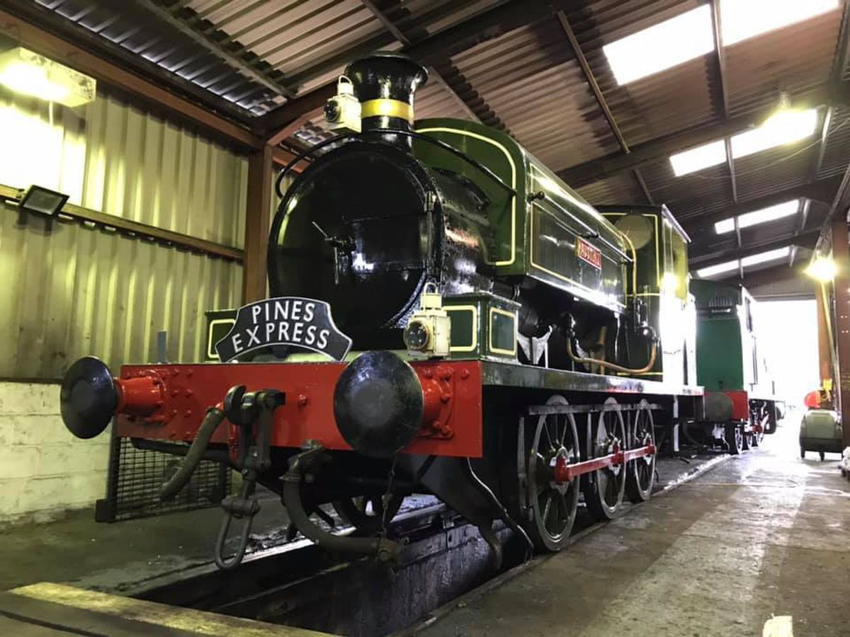 One of the tank engines at Llangollen Railway, Austin 1