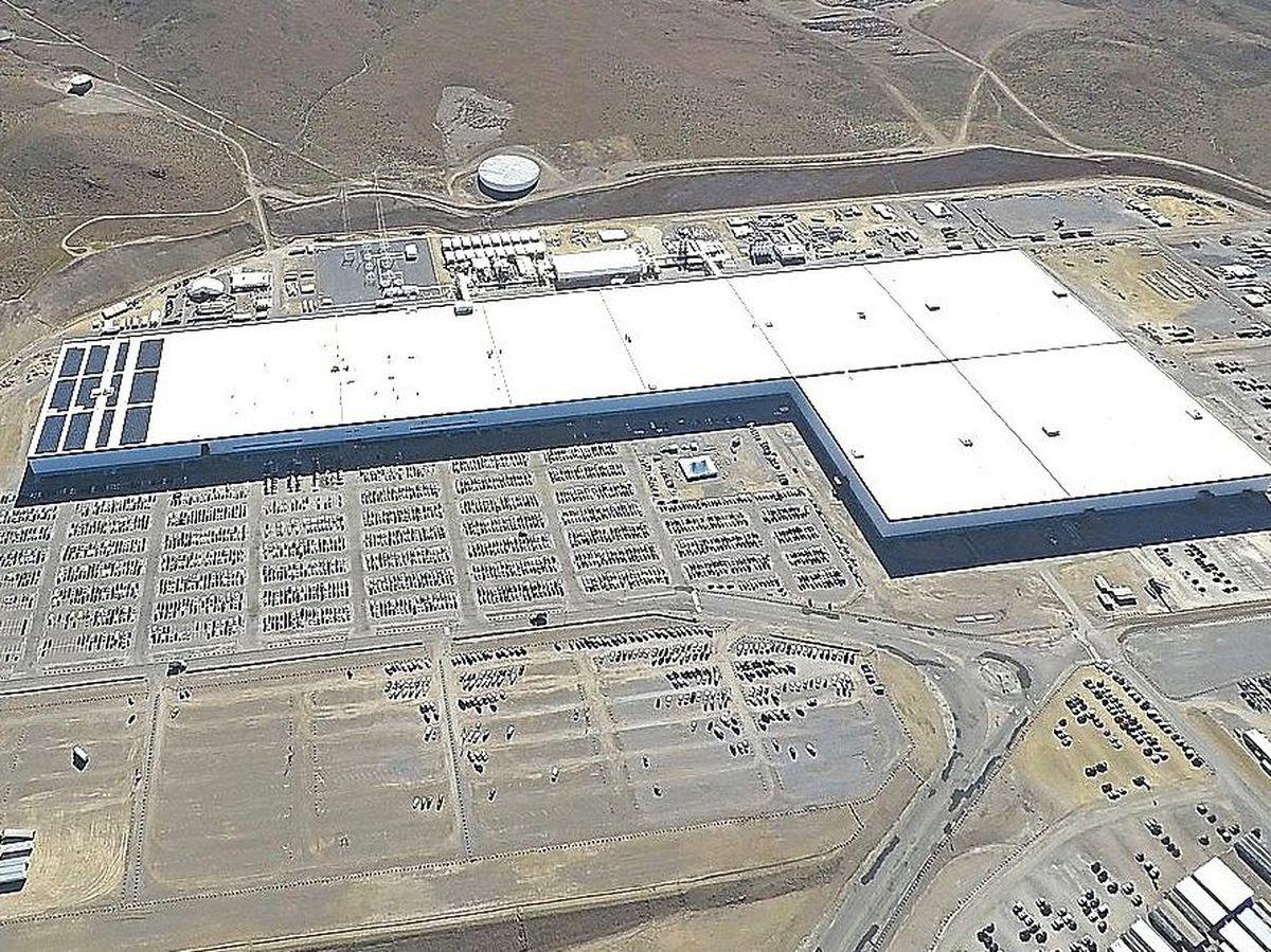 The giant Tesla Gigafactory in Nevada
